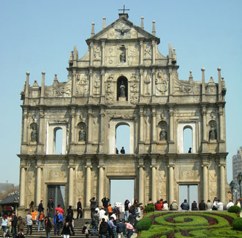 This edifice of a Catholic church is Macau's most famous historical landmark.